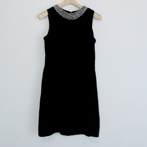 Vintage velour shift dress